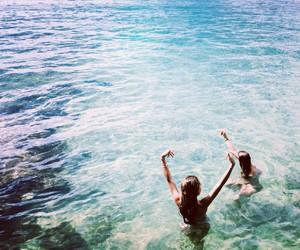 beach, bikini, and friendship image