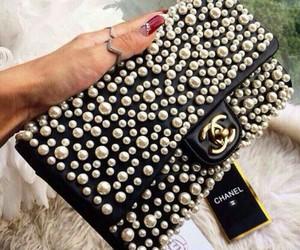 chanel, bag, and pearl image