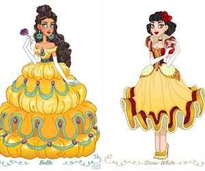 beauty and the beast, belle, and disney princess image