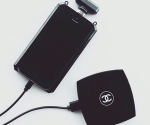 black, case, and chanel image