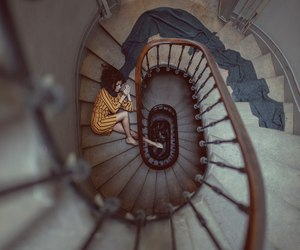 photography, stairs, and woman image