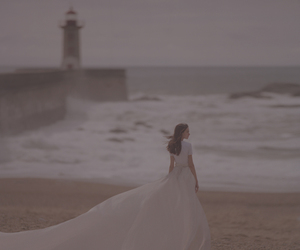 beach, dress, and freedom image