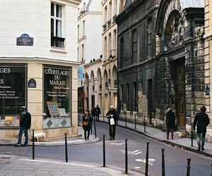 landscape, street, and vintage image