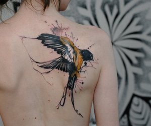 nautical, tattoo, and swallow image