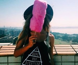 girl, pink, and candy image
