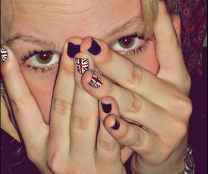 nails, white, and england image
