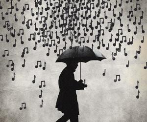 music and rain image