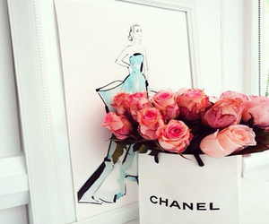 chanel, rose, and love image
