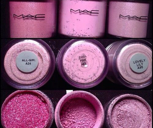 mac, pink, and makeup image
