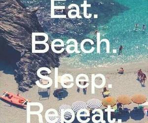 beach, eat, and sleep image