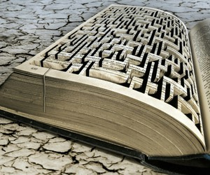 book and maze image