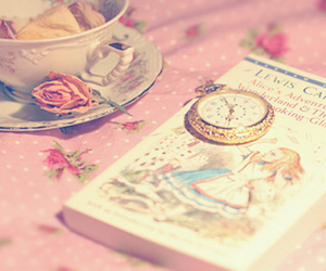 book, alice in wonderland, and pink image