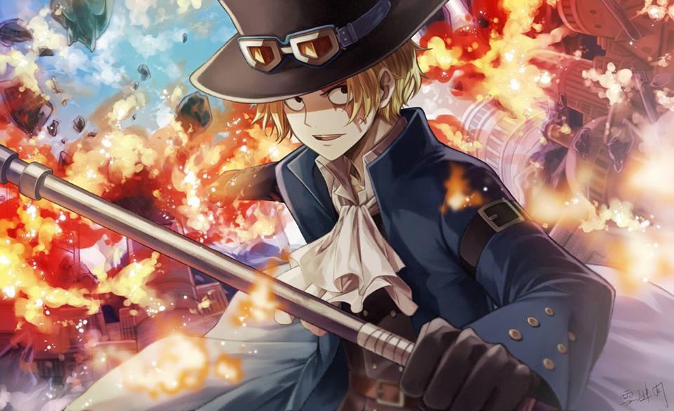 one piece, anime, and sabo image
