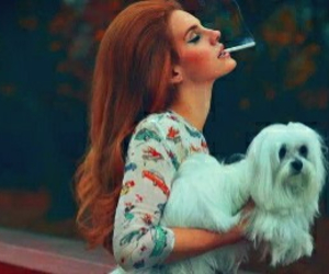 lana del rey, dog, and smoke image