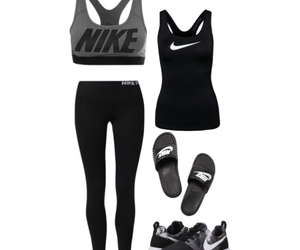 leggings, nike, and Polyvore image