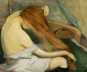 art, ginger, and hair image