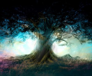 tree, blue, and fantasy image