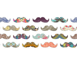 mustache, pattern, and cute image