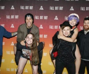 fall out boy, meeting, and love image