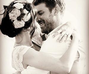 couple, romance, and wedding image