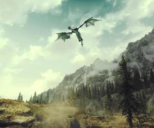animal, dragon, and forest image