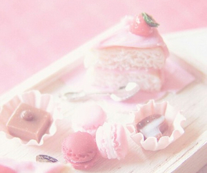 pink, cake, and pastel image