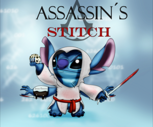 stitch, disney, and assassin's creed image