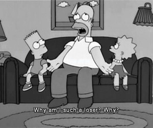simpsons, loser, and homer image
