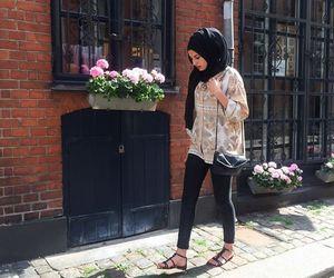 feet, hijab, and ziziosashion image