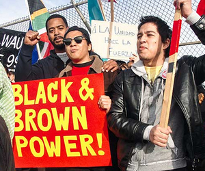 black power, mexicans, and unite image