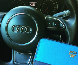 audi, summer, and turquoise image
