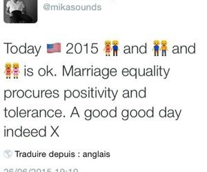 equality, mika, and tweet image