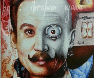 art, depp, and drawing image