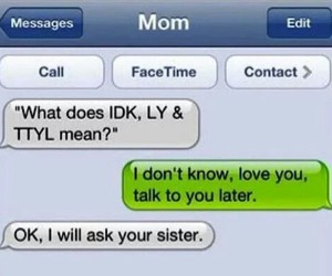 brother, texting, and mom image