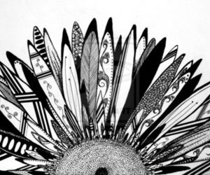 ethnic, feather, and indian image