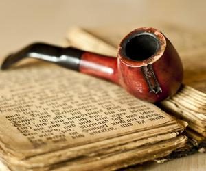 books, old books, and pipe image