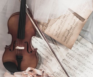 music, violin, and vintage image