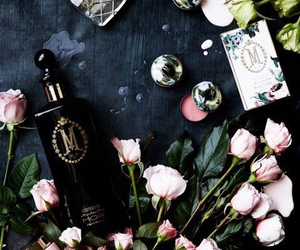 rose, flowers, and perfume image