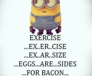 exercise and minions image