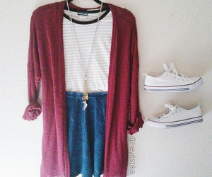 cardigan, casual, and fashion image