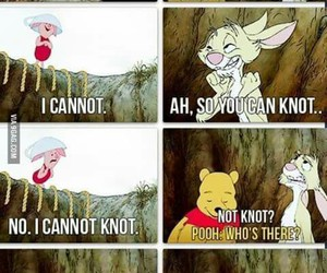funny, pooh, and knot image