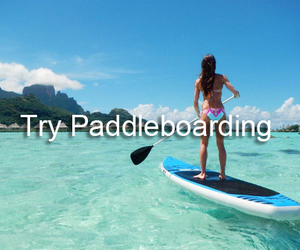 ocean, summer, and paddle boarding image