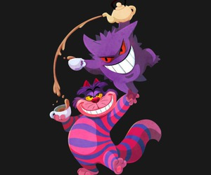 alice in wonderland, Cheshire cat, and mad tea party image