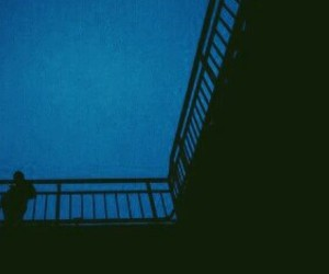 alone, black, and blue image