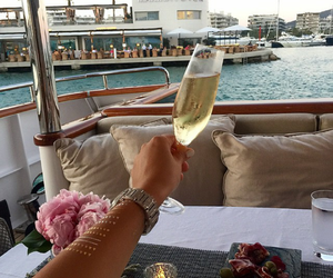 summer, luxury, and champagne image