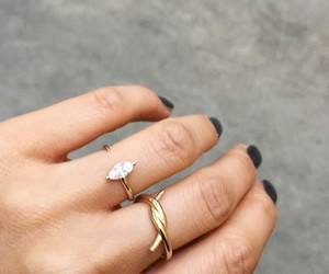 rings, black, and gold image
