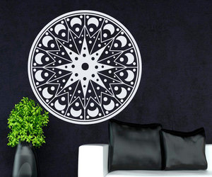 flower, mandala, and wall decals image