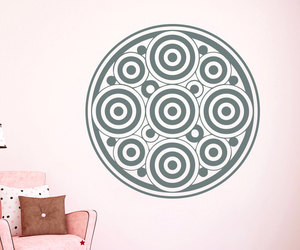 circles, om, and flower image