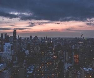 city, sky, and light image