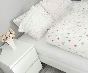 bed, decor, and room inspo image